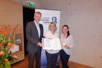 Zertifikatsübergabe des Institut für Allgemeinmedizin von Herrn Prof. Gerlach